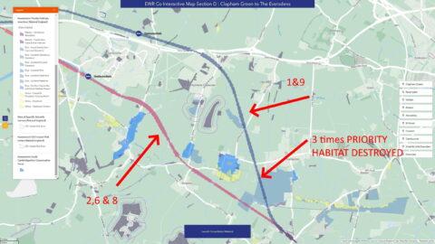 EWR routes through Caldecote